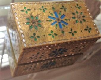 Little Golden Jewelry Box