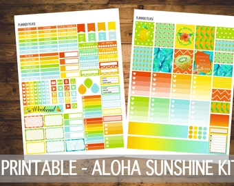 Aloha Sunshine - Printable Planner Sticker -