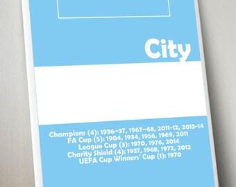 Man City print A3