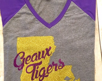 LSU/Geaux Tigers/Football Shirt/