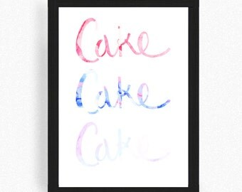 English Tea Cake Print - Kitchen Print - Cake