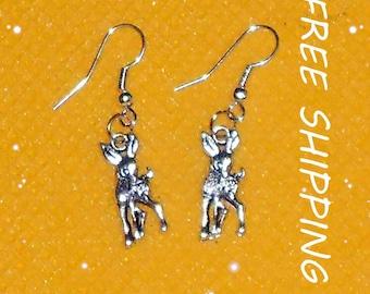metal fawns dangle earrings