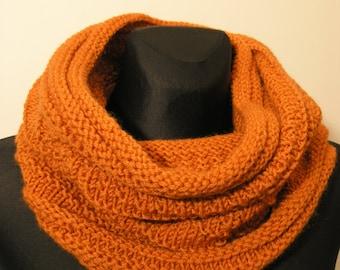handmade knitted neck warmer-hood,woollen snood,soft neck warmer,winter accessory