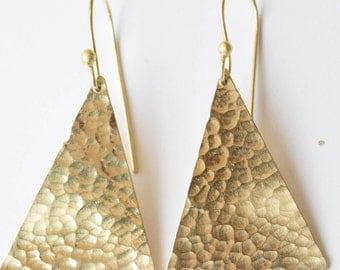 Brass earrings , Hammered brass, Hammered brass earrings, Metalwork earrings, Chandelier earrings,Gold metal jewelry,Textured metal earrings