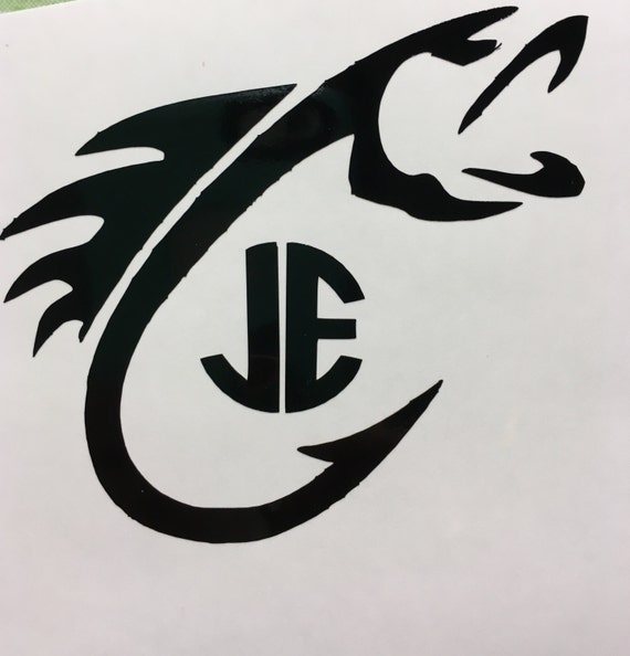 items similar to fish decal monogram fishing decal for