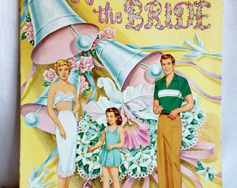 Paper Doll Book - Vintage Paper Dolls - Here Comes the Bride - 1952