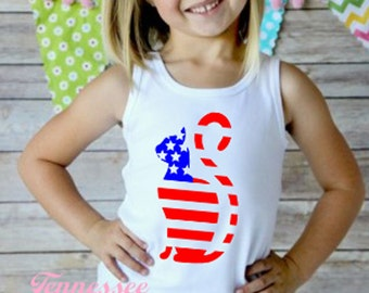 4th of July Tank, Girl's Cat Shirt, Patriotic Cat, Flag Cat Tank, Toddler Cat Shirt, July 4th Tank, Military Tank Top, Patriotic, Flag Day
