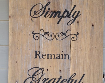 Live Simply Barnwood Sign