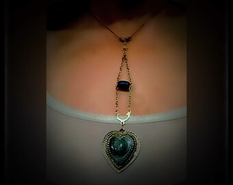 Medium length heart necklace