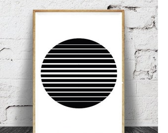 Black Circle Print, Black Circle Art, Minimalist Prints, Minimalist Art, Minimalist Artwork, Black and White, Modern Artwork, Modern Art