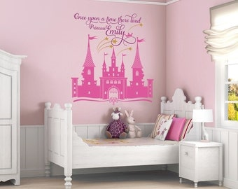 Princess Castle Personalized Custom Name Wall Decal For Nursery Or Girlu0027s  Room, Disney Castle Wall Part 76