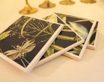 Unique Ceramic Coasters Set of 4