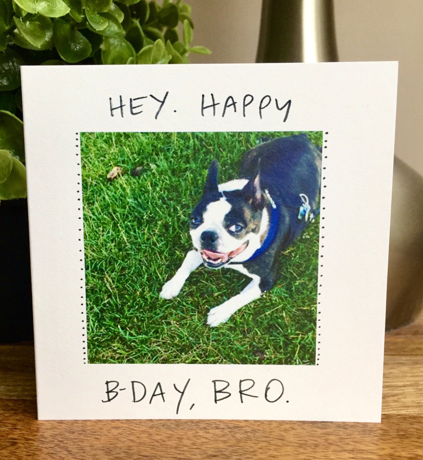 Birthday card unique birthday card funny happy birthday birthday card unique birthday card funny happy birthday handwritten boston terrier card for him funny brother birthday happy bday bro bookmarktalkfo Image collections