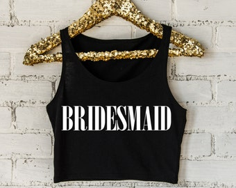 Bridesmaid Cropped Tank Top- Crop Top- Bridal Party- Bachelorette Party- Married AF