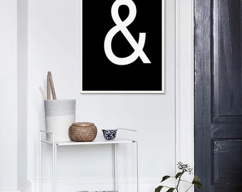 Ampersand Wall Decor wall decor ampersand | etsy