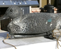 Vintage Decoy Duck Brevettato Patented Plastic Made In Italy Type- Mallard Hen