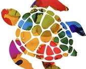 Turtle Print, Hawksbill Turtle print, hawksbill turtle, endangered turtle, turtle print, sea turtle, sea decor, salt life, turtle decor