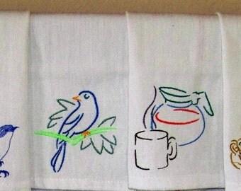 Tea Towels numbers L to R 1,2,3,4