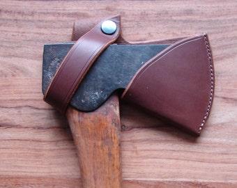 Leather Gransfors Forest Axe belt holster sheath