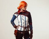 Triss Merigold cosplay costume, The Witcher, witch from the witcher 2, Halloween costume, charmed, sorceress, charmer, adult