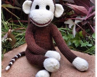 Hand Knit Brown Monkey