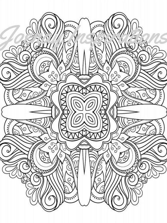 Adult Coloring Book, Printable Coloring Pages, Coloring Pages, Coloring Book for Adults, Instant Download Magnificent Mandalas 3 page 8