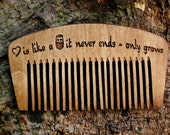 beard comb - beard brush - wooden beard comb - comb for beard - personalized beard comb - wood comb- men accessories - gift for men - comb