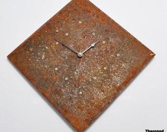 Diamond Wall Clock by Theropod Metal Works