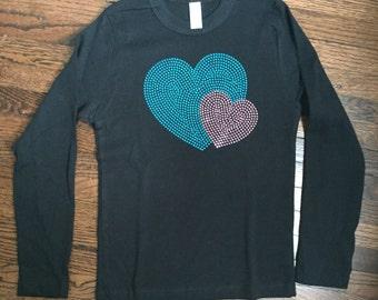 Rhinestud Heart Shirt