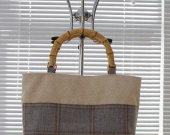 Handbag with Cane Handles