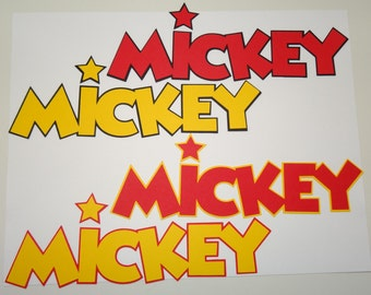 "8"" (W) Mickey Mouse Name Cut-Out"
