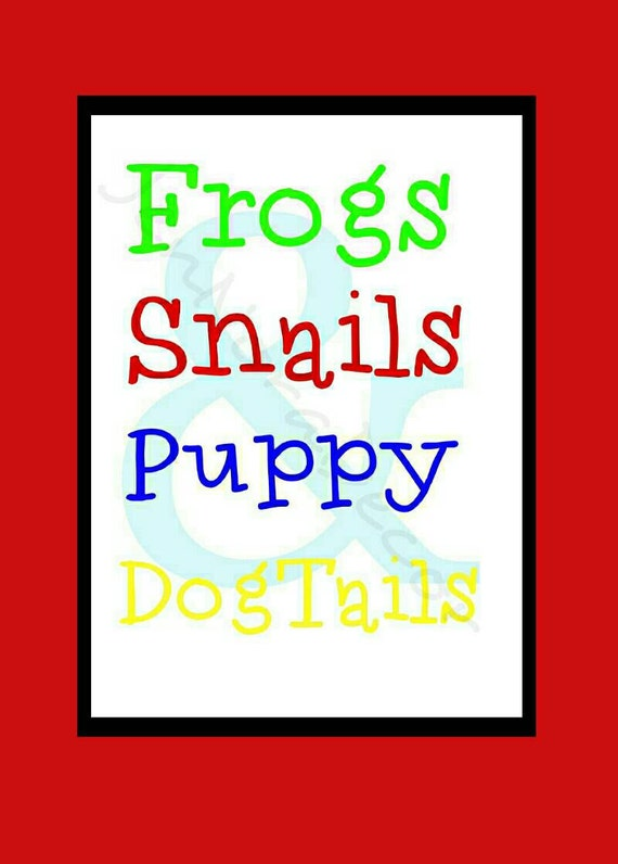 Frogs And Snails And Puppy Dog Tails Nursery Rhyme