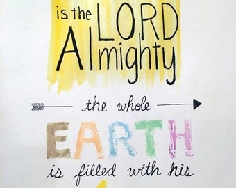 Isaiah 6:3 - typography painting (version 1)