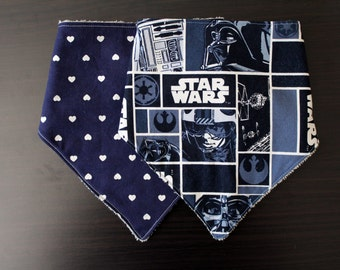Hearts and Star Wars Bibdana Set