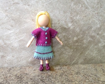 Middle Sister Kelly -  Pocket Doll, Bendy Doll