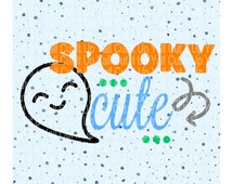 Spooky Cute Svg Cutting File, Ghost Svg Halloween Svg, Trick or Treat, Svg-Dxf-Pdf-Png, Cut Files for Cricut, Silhouette, Instant Download.