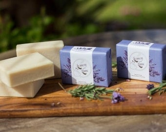 Natural Handmade Olive oil Soap - Lavender essential oil