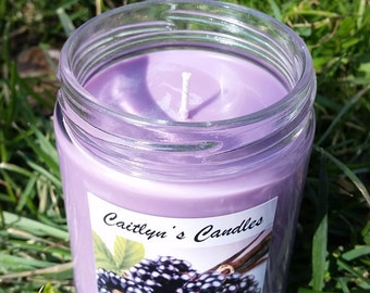 Black Raspberry Candle | Raspberry Candle | Vanilla Candle | Black Raspberry Soy Candle | Vanilla Soy Candle | Soy Wax Candle | Handmade