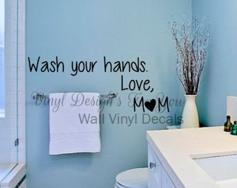 bathroom wall decor wall vinyl decal wall saying apartment decor wall word