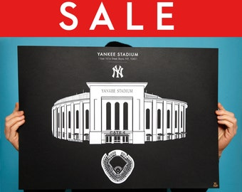 YANKEE STADIUM - New York Yankees Stadium Limited Edition Screen Print /20 Baseball Ballpark