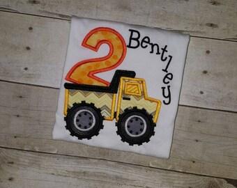 Dump Truck Construction 2nd Birthday Shirt