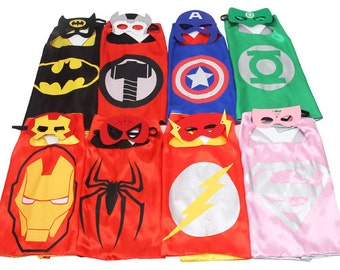 25 Cape Set - Super Hero Cape, Superhero Cape, Personalized Super Hero Cape, Kid Cape,  Kids Gift, Superhero Costume, Super Hero Party Favor