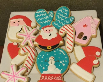 One Dozen Decorative Cookies