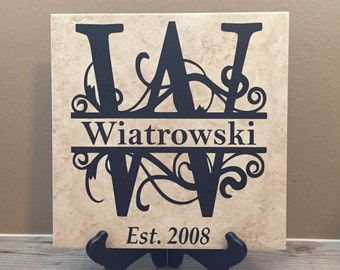 Wedding Gifts Personalized, Established Sign, Gifts for Couple, Wedding Gift, Gift for Bride, Wedding Shower Gift, Wedding, Last Name Sign