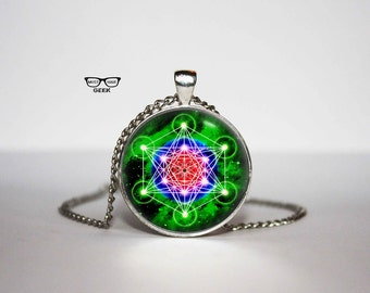 Metatron's Cube Necklace, Metatron's Cube pendant, Sacred Geometry necklace, Gift Idea for Her, for Him