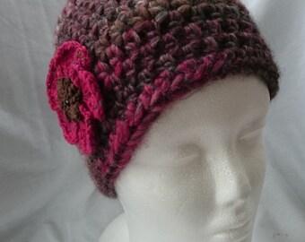 Crochet hat, cloche hat, Beanie Hat, wool hat