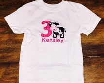 Cow Barn Yard Animals   Farm Embroidery   Country   Twin Set   Embroidered Shirt   Personalized Monogram   First Birthday   Boy Girl Shirt