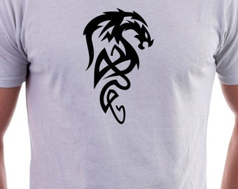 T-shirt with Tribal Art Dragon