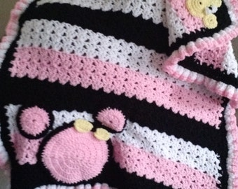 Crochet Minnie mouse baby blanket