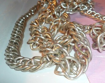Vintage Necklace Large Chainlink Repurpose Jewelry Costume Ladies Necklace Heavy Long Necklace by VintageStudioSupply